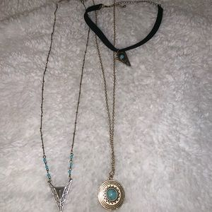 Bundle Blue Necklaces